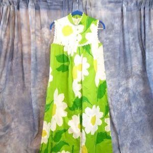 1960's Malia Honolulu Vintage Daisy Dress Sm